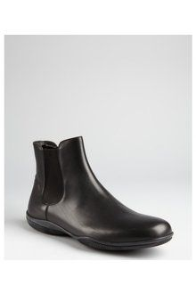 191fa7f0ec68 PURCHASED - Prada Prada Sport Black Leather Slipon Ankle Boots - Lyst Ankle  Boots Men
