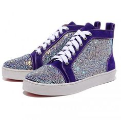 Buy Christian Louboutin Mans Purple Coloured Diamond Sneakers Discount from Reliable Christian Louboutin Mans Purple Coloured Diamond Sneakers Discount suppliers.Find Quality Christian Louboutin Mans Purple Coloured Diamond Sneakers Discount Y Christian Louboutin Red Bottoms, Cheap Christian Louboutin, Womens Fashion Sneakers, Fashion Heels, Fashion Rings, Style Fashion, Cheap Fashion, Fashion Clothes, Runway Fashion
