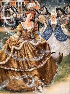 Cinderella by Ruth Sanderson. #art #enchanting #fairy_tales