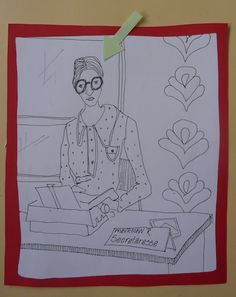 Drawing Mevrouw R's secretaresse