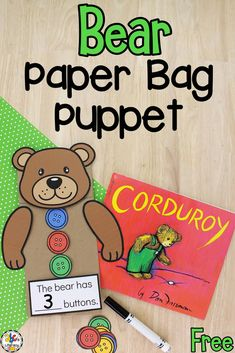 This Bear Paper Bag Puppet is a creative way for kids to work on number sense, fine motor skills, and much more!