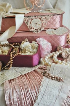 Faith, Grace, and Crafts: I'm Celebrating with Pink and Cream and of Course with Pearls and Lace #145