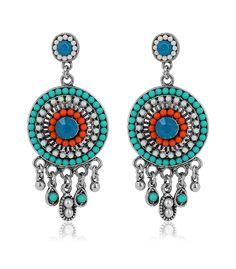 Aztec style earrings Rdu Temps   #Rdu Temps #aztec #statement #ikat