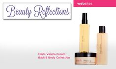 BeautyReflections.com recommends our mark. vanilla cream bath and body collection for comfort on cold days.