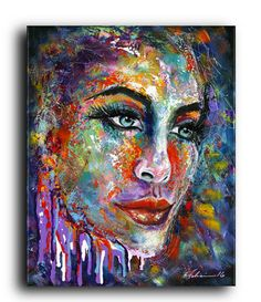 Gallery Canvas and Fine Art Prints by NYoriginalpaintings on Etsy #streetartist #cool #portrait #originalpaintings #fineart #urban #LES #nyc #modern #abstract #lifestyle #homedecor #contemporary #colorful #sexy #women