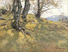 Fritz Thaulow (1847-1906). Spring at Stord, May 1889.