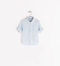 Image 1 of SHIRT WITH ROLL-UP SLEEVES from Zara