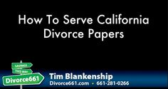 How To Serve California Divorce Papers  There is a right way and a wrong way to serve California divorce papers.  In this article (and video) we discuss the various ways you can serve your spouse divorce papers in California.  http://divorce661.com/how-to-serve-divorce-papers-santa-clarita/