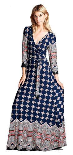 Bohemian quater Sleeve Long Maxi Dress