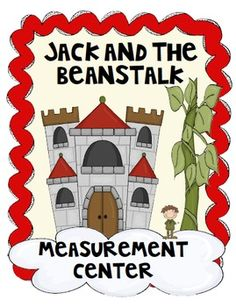 Math measurement center with a Jack & the Beanstalk theme. Priced Students will practice measuring to the nearest quarter inch. This packet includes. Measurement Activities, Math Measurement, Math Activities, Math Classroom, Kindergarten Math, Teaching Math, Maths, Teaching Tips, Classroom Ideas