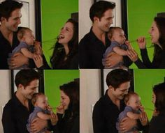 BD2 bts... They should've just kept the baby as Renesmee instead of CGIing the face.... she's REAL. and wayyyy cuter.