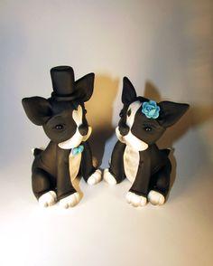 Custom Cake Topper Dog Pet Boston Terrier by FancypantsClay