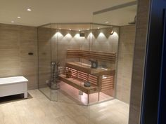 Sauna Design, Steam Showers, Basement, Saunas, Bathtub, Relax, Bathrooms, Modern Houses, Container