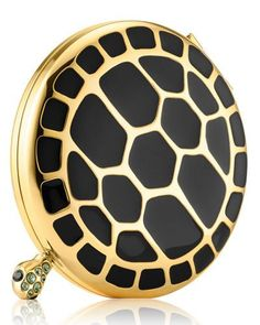 Limited Edition Turtle Endurance Powder Compact by Estee Lauder at Bergdorf Goodman. Lipstick Case, Lipstick Holder, Powder Puff, Face Powder, Estee Lauder Perfume, Compact, Powder Lipstick, Solid Perfume, Luxury Jewelry