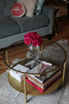 ikea vittsjo coffee table- spray painted gold