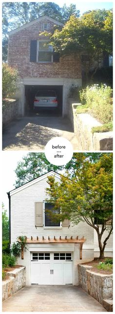 Home Exterior - garage pergola painted brick http://terracottaproperties.com/portfolio/before-after/