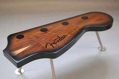Fender guitar coffee table. Awesome.