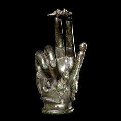 An ancient Roman bronze 'hand of Sabazius'. (British Museum) http://en.wikipedia.org/wiki/Sabazios