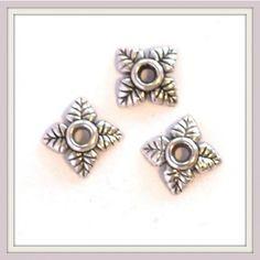10 db Antikolt ezüst színű csillagvirág gyöngykupak NIKKELMENTES - Gyöngykupakok - Csinálj Ékszert! webáruház