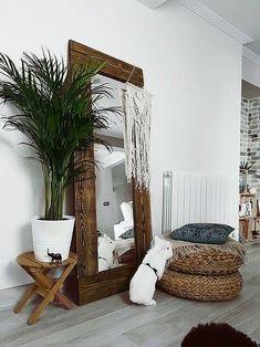 Mirror Decor Living Room, Bedroom Decor, Full Length Mirror Living Room, Master Bedroom, Home Interior Design, Living Room Designs, House Design, Home Decor, Walnut Mirror