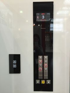 Glass Contol panels line with Dama pushbuttons