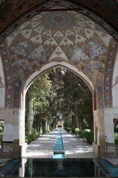 Fin Garden, Kashan, Iran. Fin Garden, or Bagh-e Fin, is a historical Persian garden. It contains Kashan's Fin Bath, where Amir Kabir, the Qajarid chancellor, was murdered by an assassin sent by King Nasereddin Shah in 1852.