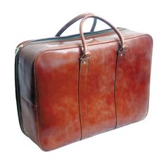 Swaine Adeney 19 Inch Soft Sided Leather Suitcase