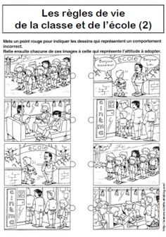 Règles de vie de la classe et de l'école French Teacher, Teaching French, Classroom Organization, Classroom Management, Time Management Strategies, Core French, French Classroom, French School, French Immersion