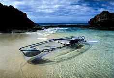 Clear canoe! This might terrify me in the ocean, but it would be a neat experience, nonetheless.