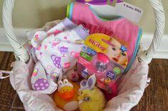 Baby easter basket the girls pinterest baby easter basket everythings hunky dorey easter basket ideas for infant girl negle Gallery