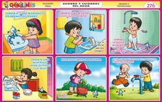 Galeria de chikilines   Chikipedia - Láminas Escolares Dental Kids, Rainbow Wallpaper, Background Templates, Ideas Para, Homeschool, Lettering, Baseball Cards, Comics, Google