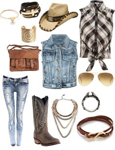 """""""cowgirl outfit"""" my country side Country Girl Outfits, Cute Cowgirl Outfits, Country Girl Style, Country Fashion, Country Girls, Cute Outfits, My Style, Western Outfits, Cowgirl Mode"""