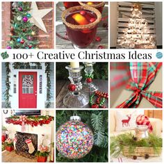 100+ Creative Christmas Ideas - Crafts, Recipes, DIY Projects.  It's the All Things Creative Holiday Edition!