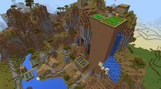 The 20 best minecraft pe seeds for lazy people on the go Minecraft Houses For Girls, Minecraft Houses Xbox, Minecraft Houses Survival, Minecraft House Tutorials, Minecraft Houses Blueprints, Minecraft Tutorial, Minecraft Stuff, Minecraft Pe Seeds, Blueprint Art