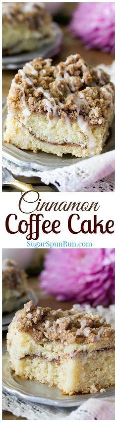 Cinnamon Coffee Cake via @sugarspunrun