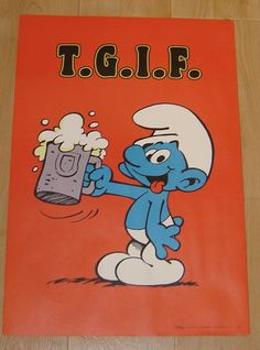 Thanks God it's Friday!! #smurfs