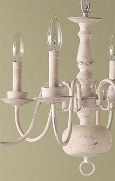 Antique Chandelier  - Make 'New' Vintage Decor - Paint with a Matte Chalk Finish