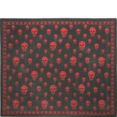 Classic Silk Chiffon Skull Scarf Alexander McQueen | Men's Scarf | Ties And Scarves |