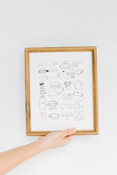 Kitchenware Print by Rosemary Paper Co by rosemarypaperco on Etsy, $25.00
