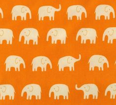 Japanese Cotton Fabric  Elephants on by ThisandThatFromJapan, $7.95