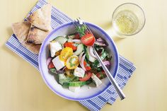 Greek Peasant Salad I The Yellow Table (Photo by Signe Birck)
