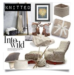 """Knitted Decor"" by clotheshawg ❤ liked on Polyvore featuring interior, interiors, interior design, home, home decor, interior decorating, UGG, UGG Australia, Anja and Lolli Living"