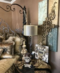 Champagne Old World Bedding Luxury Bedding Collections, Fox Fur, Old World, Damask, Color Schemes, Swarovski Crystals, Champagne, Wall Lights, Fabrics