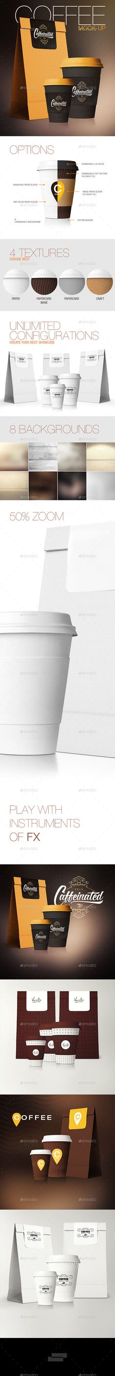 Coffee Cup / Coffee Package Mock-Up #design Download: http://graphicriver.net/item/coffee-cup-coffee-package-mockup/11415496?ref=ksioks