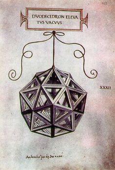 Leonardo da Vinci - Geometric Figure Duodecendron elevatus vacuus