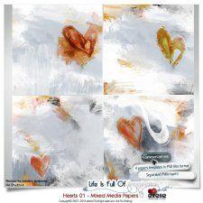 Hearts 01 - Mixed Media Papers by Eirene Designs cudigitals.com cu commercial scrap scrapbook digital graphics#digitalscrapbooking #photoshop #digiscrap #scrapbooking
