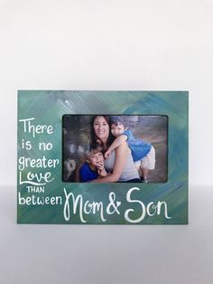 """Mother's Day Picture Frame. Gift for Mom. Ready to ship hand-painted picture frame. Holds 4x6"""" photo. Custom orders welcome. Gift for Mom by PaintedSea on Etsy"""