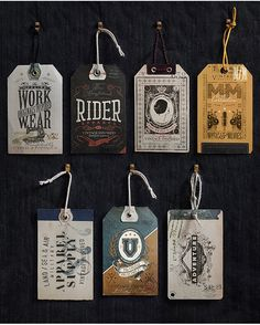 betype:  Vintage Inspired Hag Tags by Oriol GIl