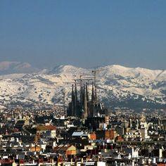 Barcelona nevada, el febrer de 2013 (Catalunya - Catalonia)