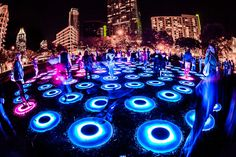 Jen Lewin's the pool was featured at EDC Las Vegas 2013 | Electric Daisy Carnival's Art Installations | Talenthouse